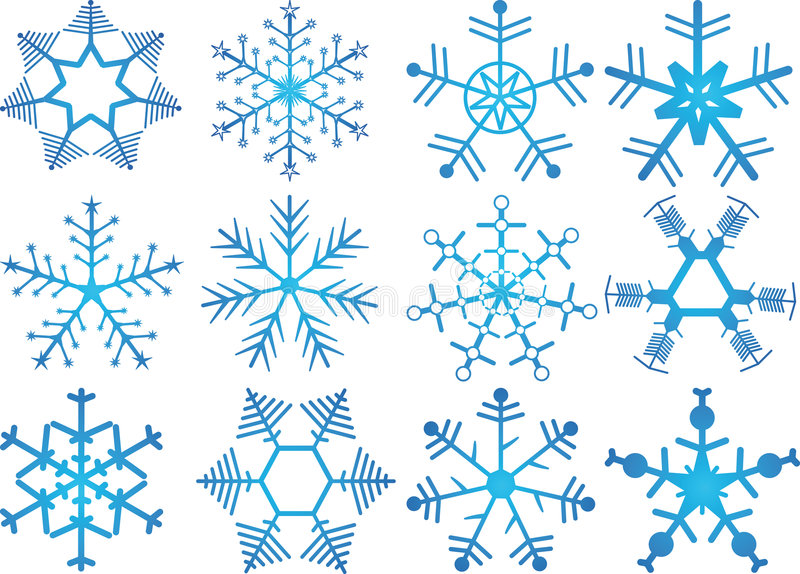Snow Crystals Royalty Free Stock Photography