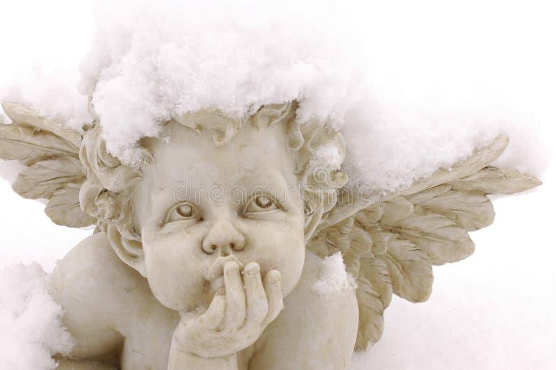 Snow cupid stock photography