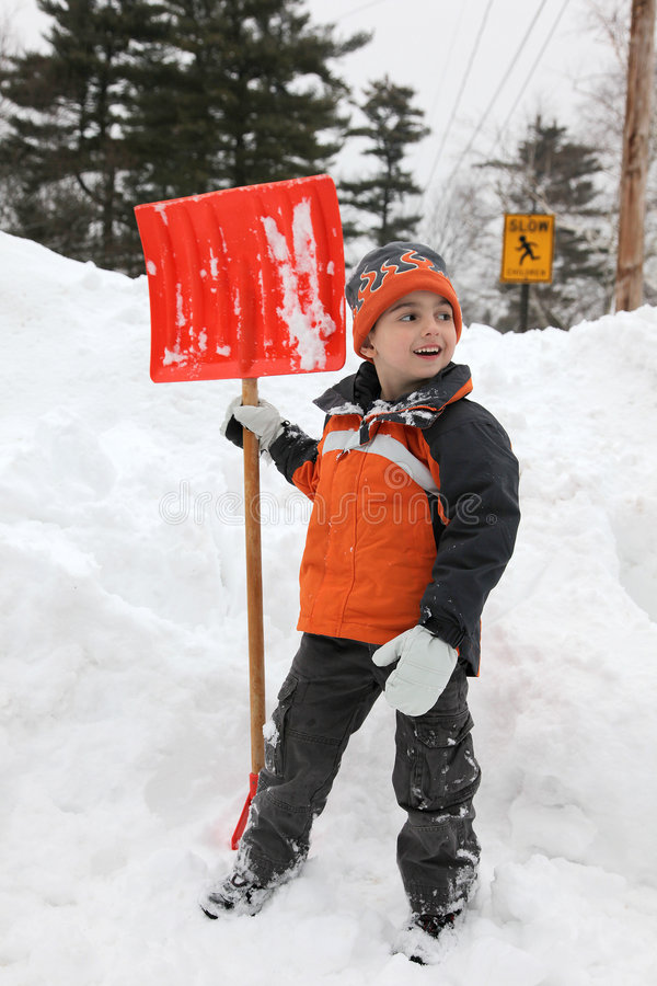 Download Snow Day stock photo. Image of helper, gloves, driveway - 7581810