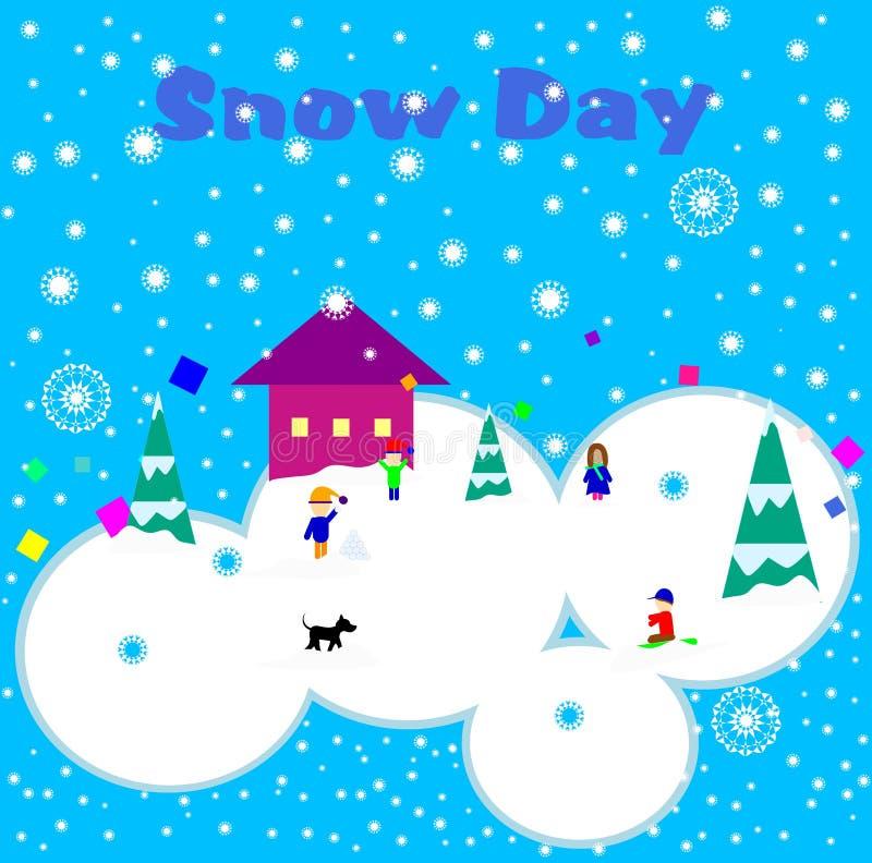 Snow Day/No School stock photo