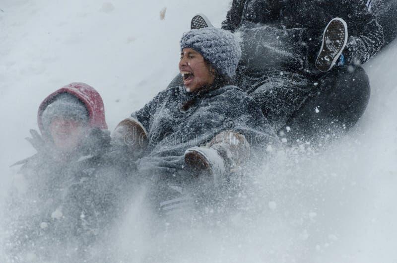 Snow day stock photos
