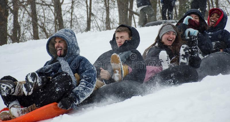 Snow day royalty free stock photography