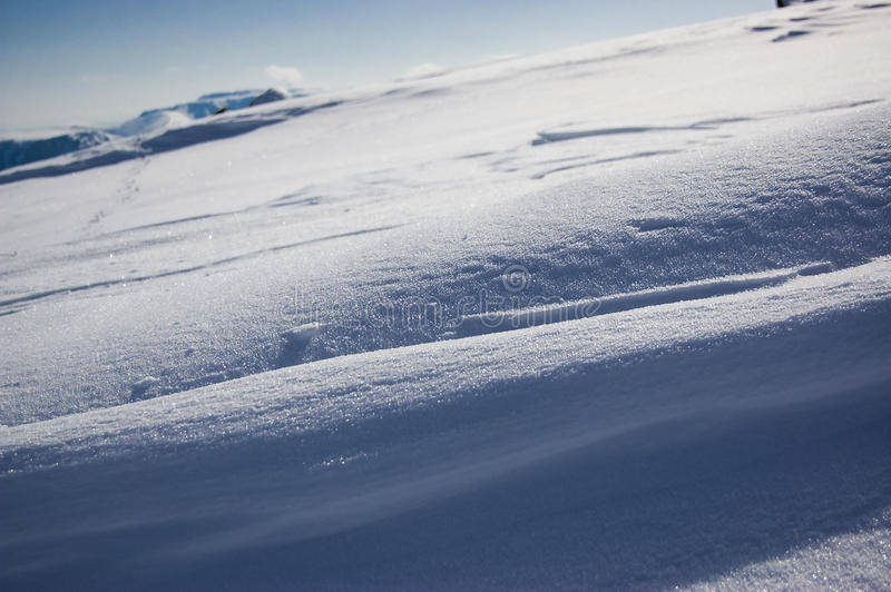 Snow diagonal royalty free stock photos