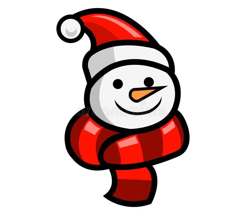 Snow Doll Head vector illustration