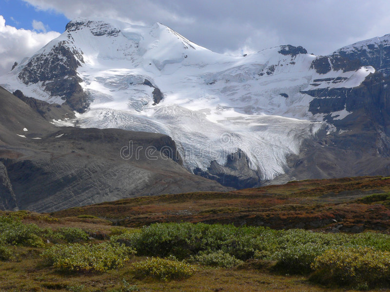 Snow Dome Mountain and Glacier royalty free stock photo