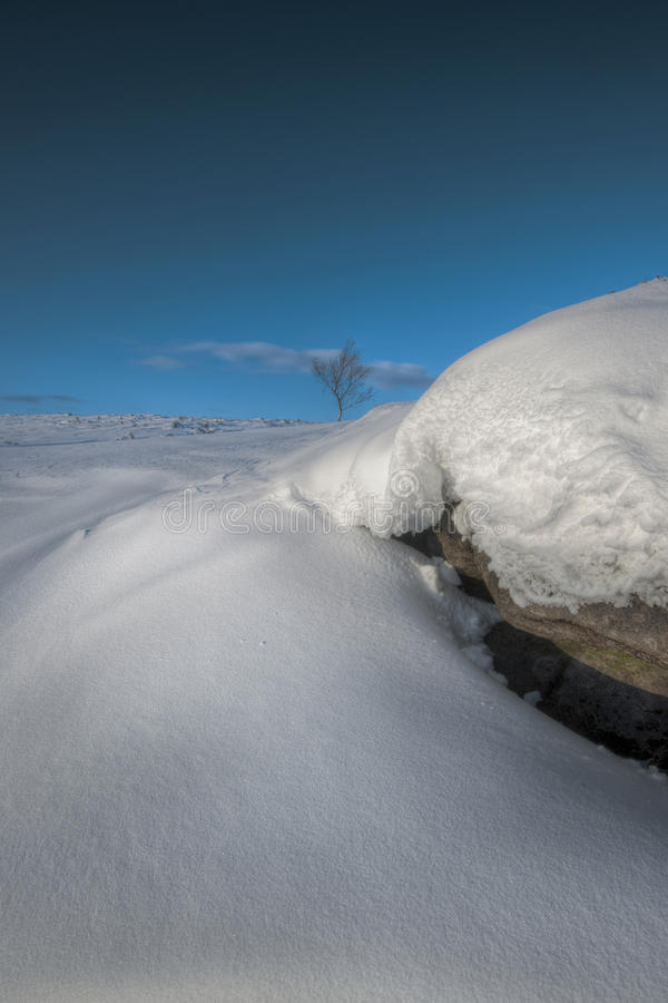 Download Snow Drift on Stanage Edge stock photo. Image of copy - 25490138