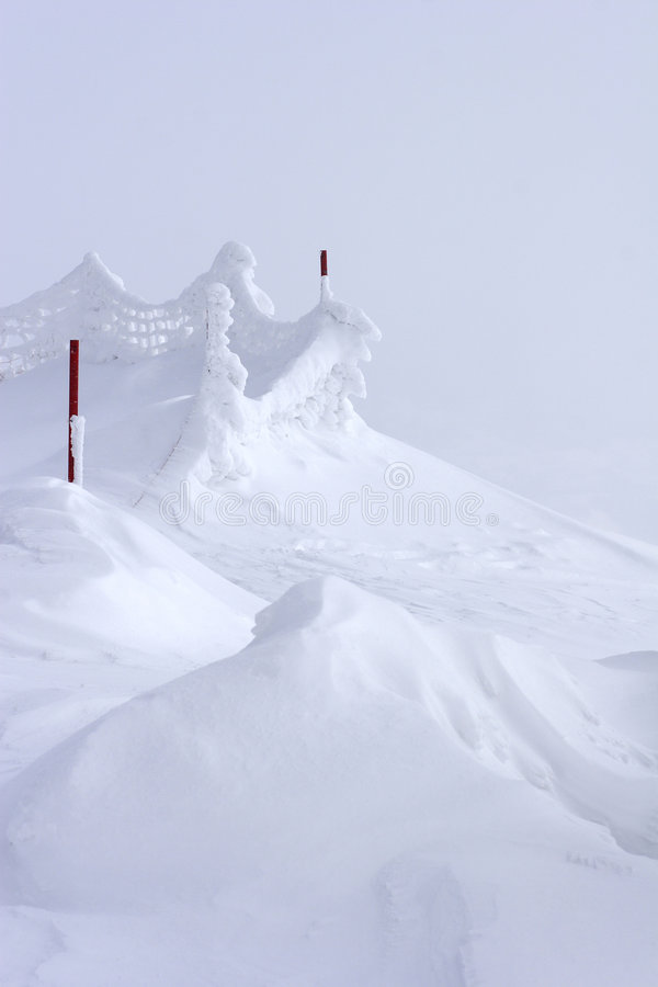 Download Snow Drift At Top Of Mountain Stock Image - Image: 1573483