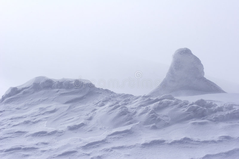 Download Snow Drift At Top Of Mountain Stock Image - Image: 1575021