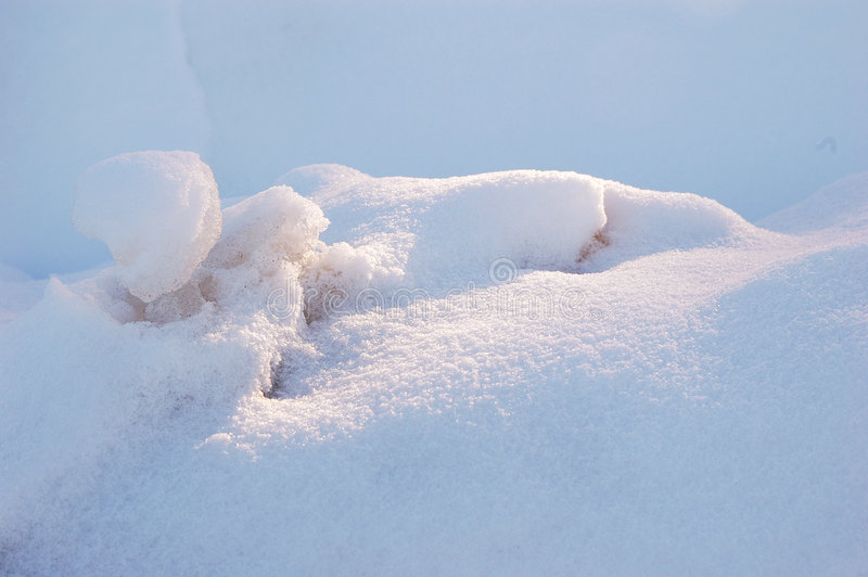 Snow drifts stock photo