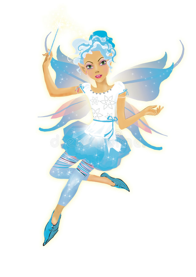 Snow elf girl royalty free illustration
