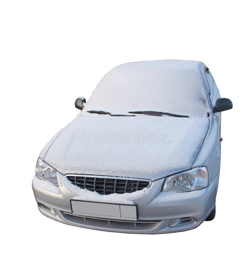 snow för 2 bilbanor under arkivbild