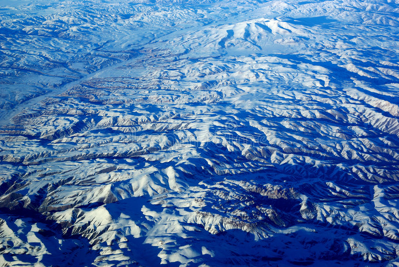 snow för fågelögonberg s royaltyfria foton