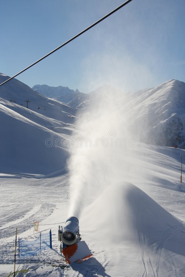 snow för konstgjord maskin royaltyfri fotografi