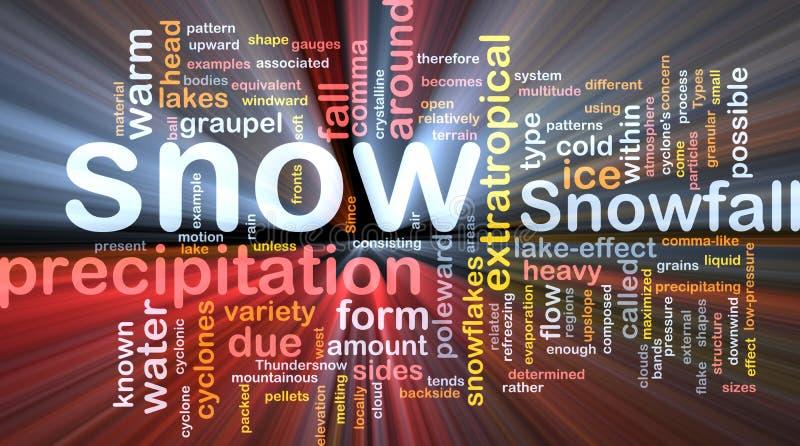 snow för nederbörd för bakgrundsbegrepp glödande vektor illustrationer