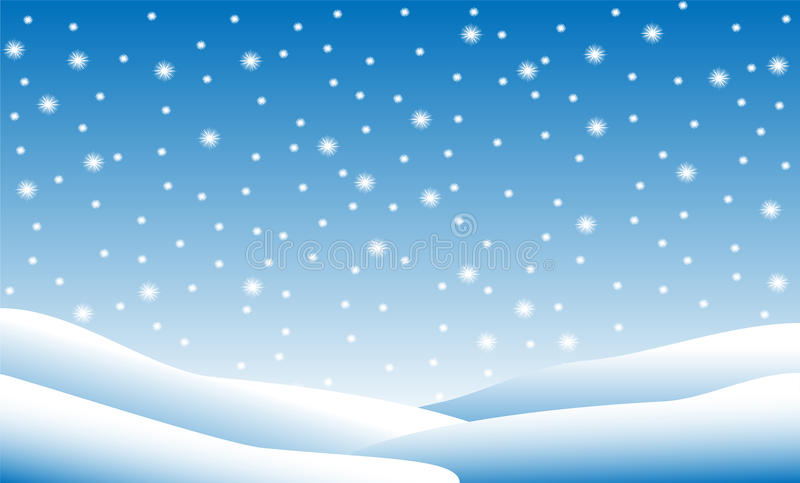 Snow fall stock illustration