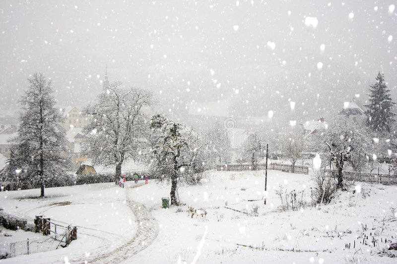 Snow fall royalty free stock images