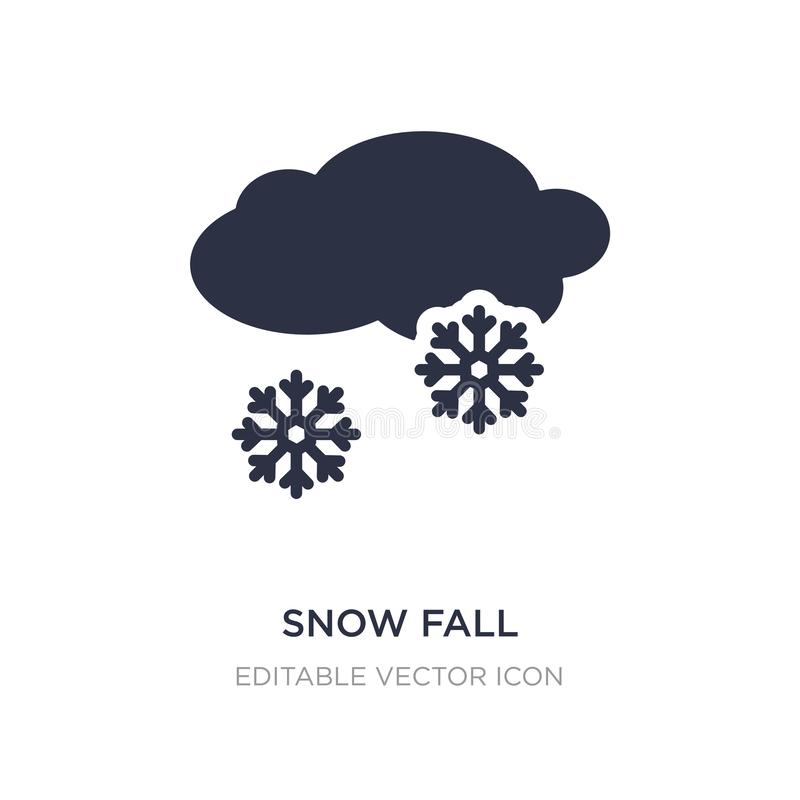 Snow fall icon on white background. Simple element illustration from Weather concept. Snow fall icon symbol design royalty free illustration
