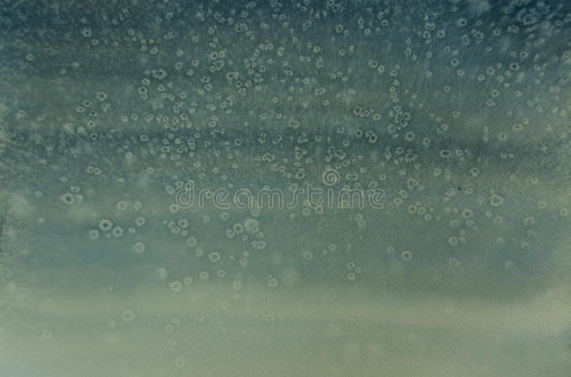 Snow fall, watercolor painting royalty free stock image