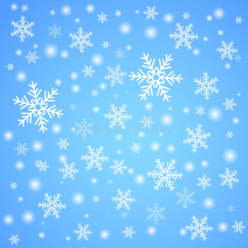Snow fall. Winter background. stock illustration