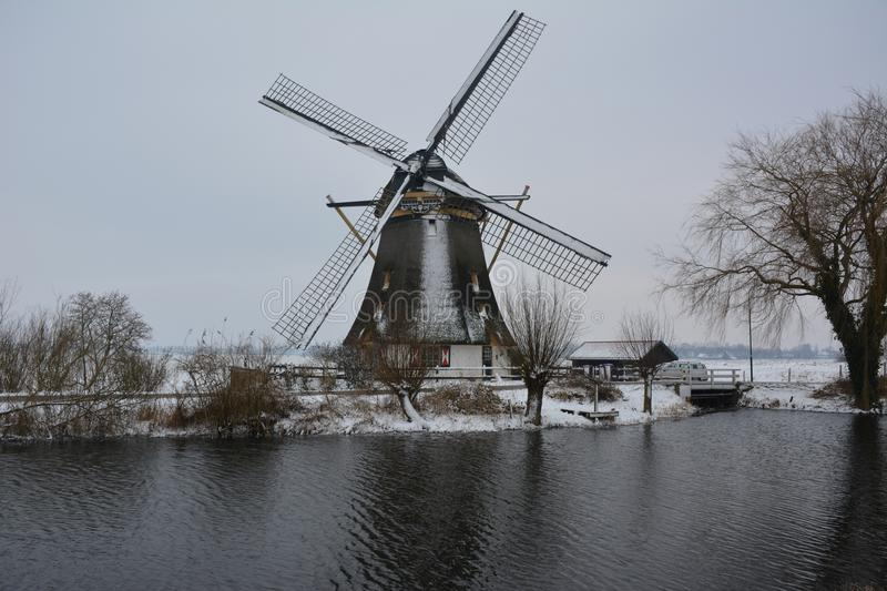 Download Snow in February stock image. Image of dutch, gein, netherlands - 100058075