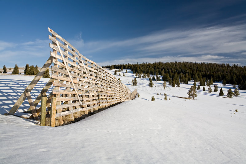 Download Snow fence stock image. Image of winter, wyoming, copyspace - 2370133