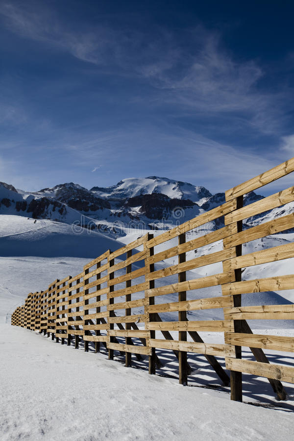 Free Snow Fence In Chilean Andes Royalty Free Stock Images - 42428909