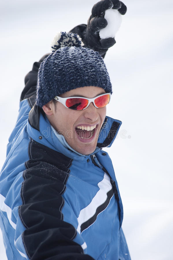 Download Snow fighting stock image. Image of people, sunglasses - 27529153