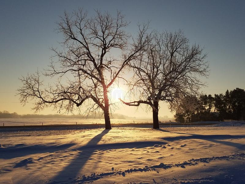 A snow filled Winter for Iowa royalty free stock image