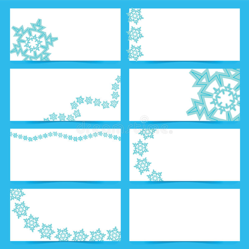 Download Snow flake cards stock vector. Illustration of blue, collection - 27763787