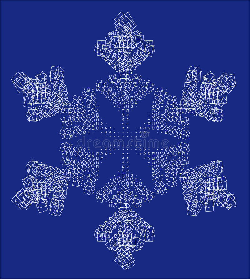 Download Snow flake and squares stock illustration. Illustration of artwork - 11739662