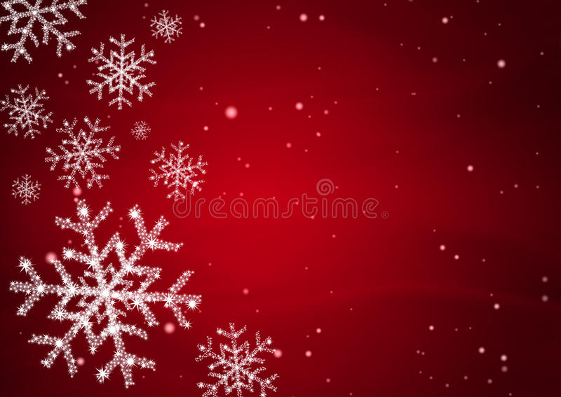 Snow flake with star stock illustration