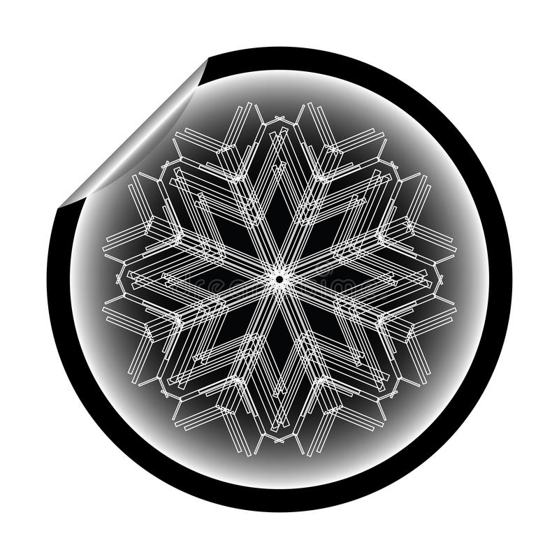 Download Snow Flake Sticker Isolated On White Background 10 Stock Vector - Image: 12144197