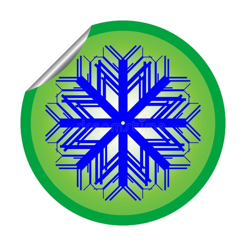 Snow Flake Sticker Isolated On White Background 2 Royalty Free Stock Image