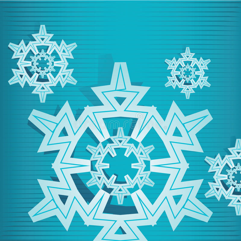 Download Snow flake two stock vector. Image of snow, abstract - 27514551