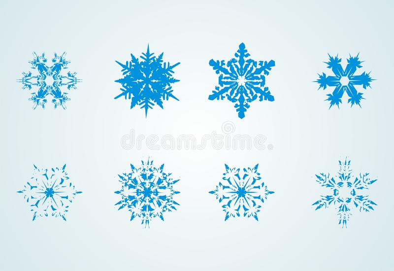 Download Snow flakes stock vector. Image of illustration, gradient - 11407303