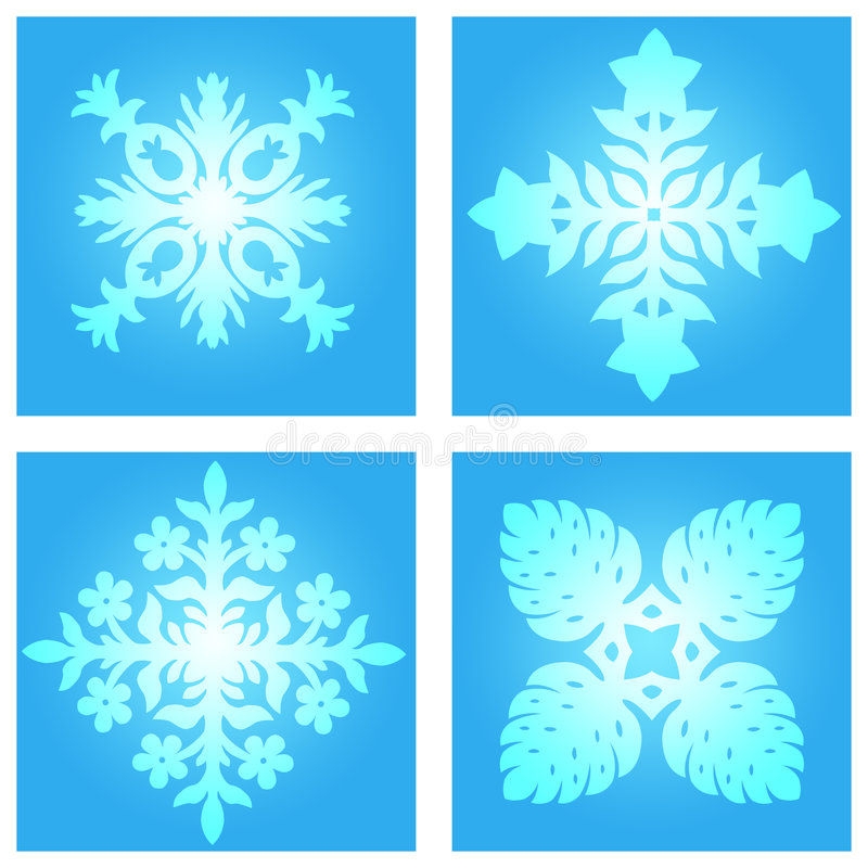 Download Snow flakes stock illustration. Image of season, snowflake - 364606