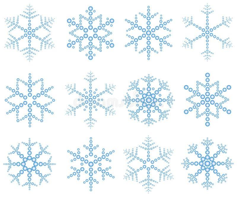 'Snow' flakes stock illustration