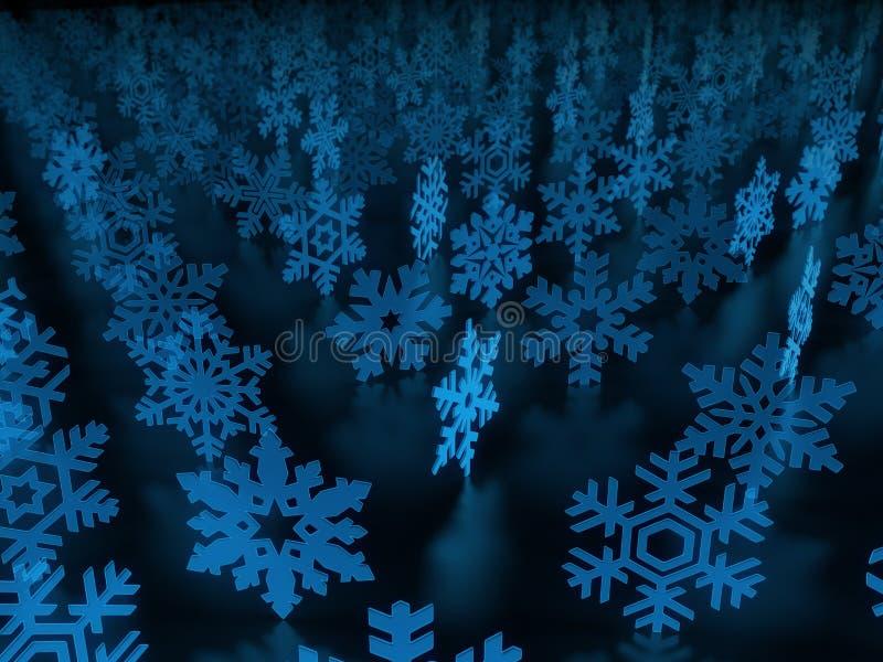 Snow Flakes Background Stock Photos