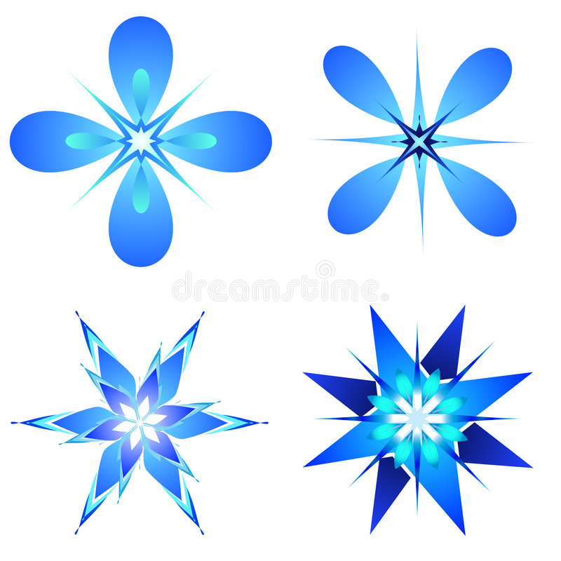 Snow flakes designs royalty free illustration