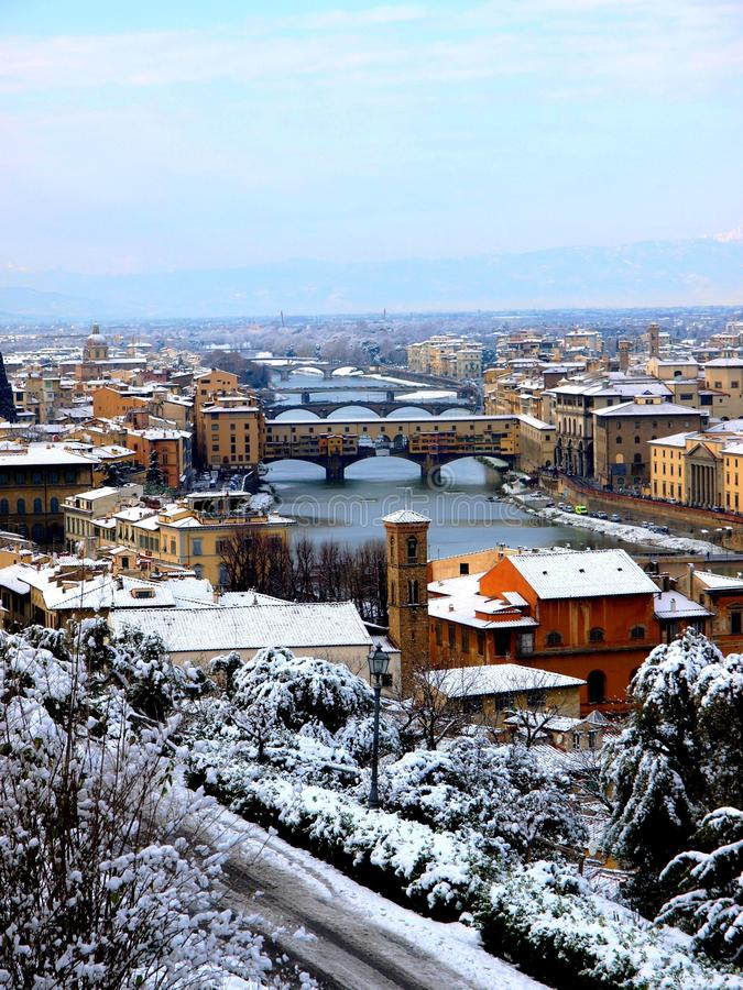 Download Snow in Florence stock photo. Image of dome, panoramic - 12252222