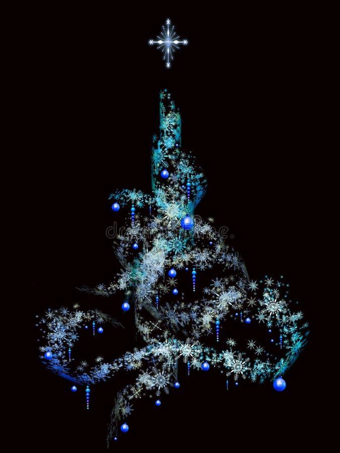 Download Snow flurry Christmas tree stock illustration. Illustration of holidays - 7402583