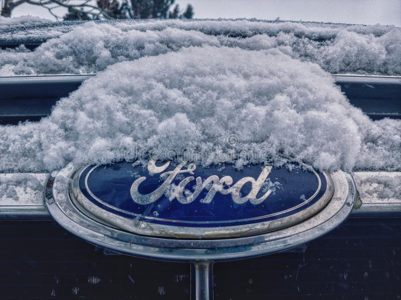 Snow Ford royalty free stock image