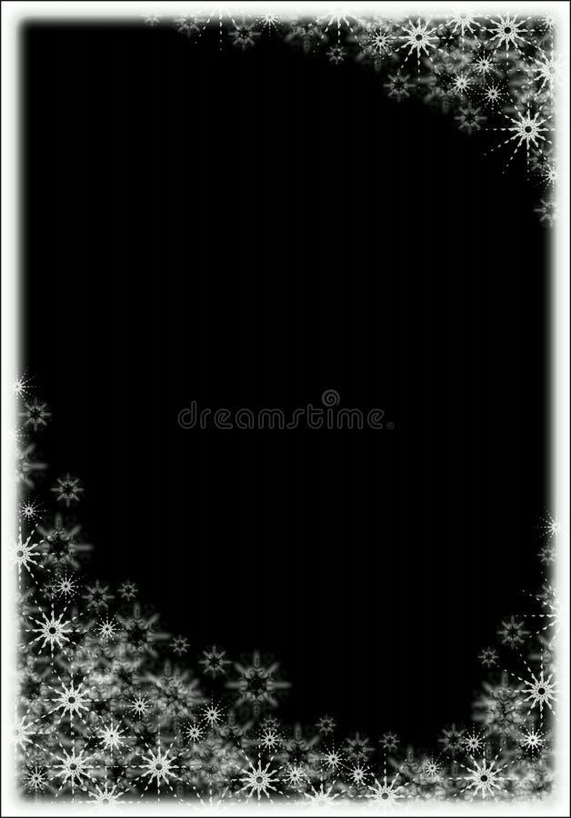 Snow frame royalty free stock photo