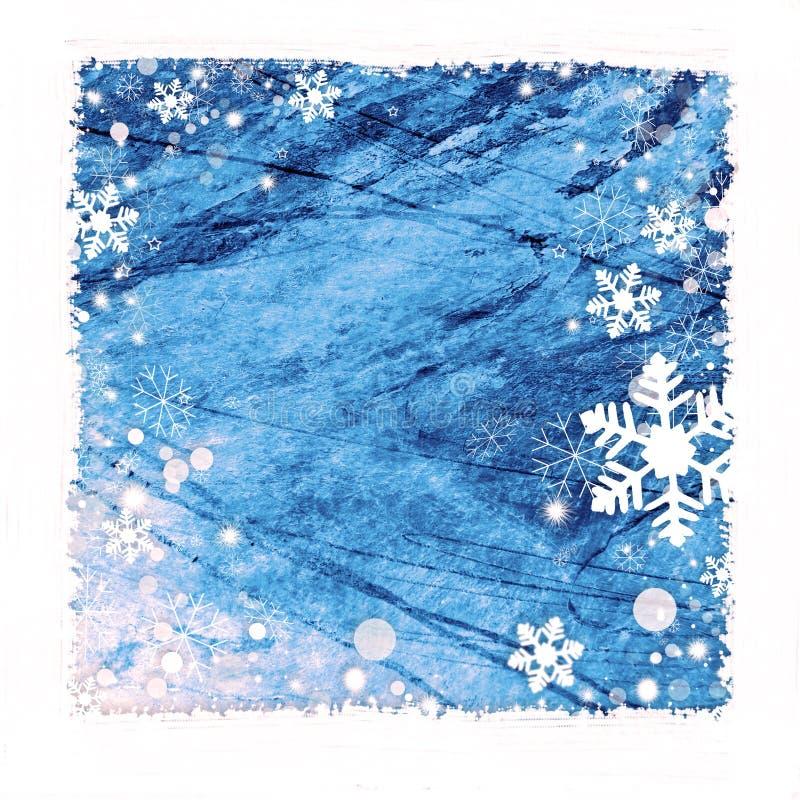Snow frame background stock illustration