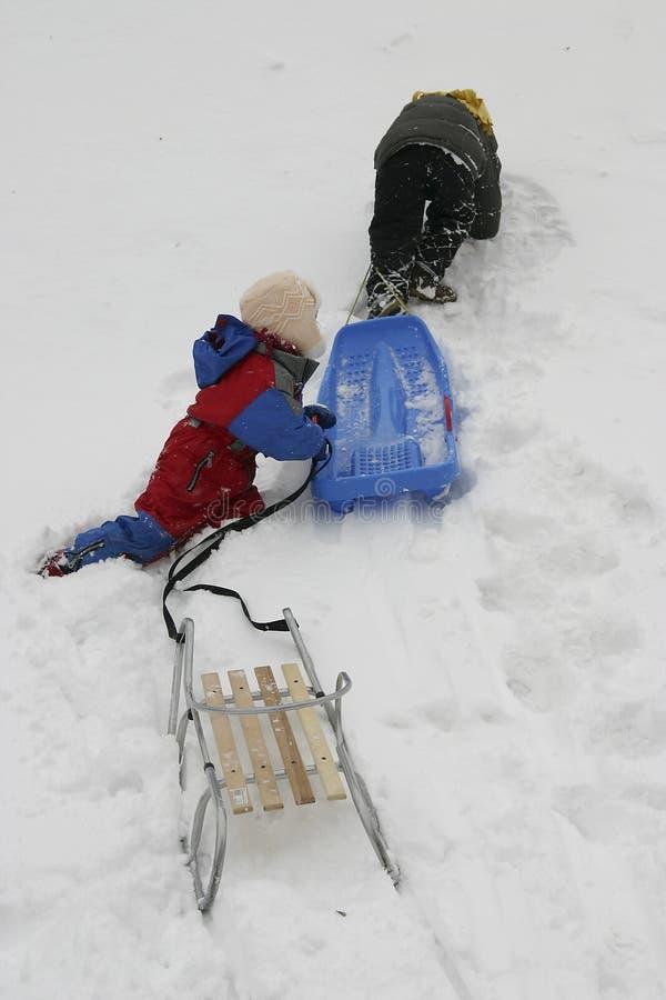 Snow fun stock photos