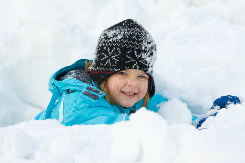 Snow fun stock image