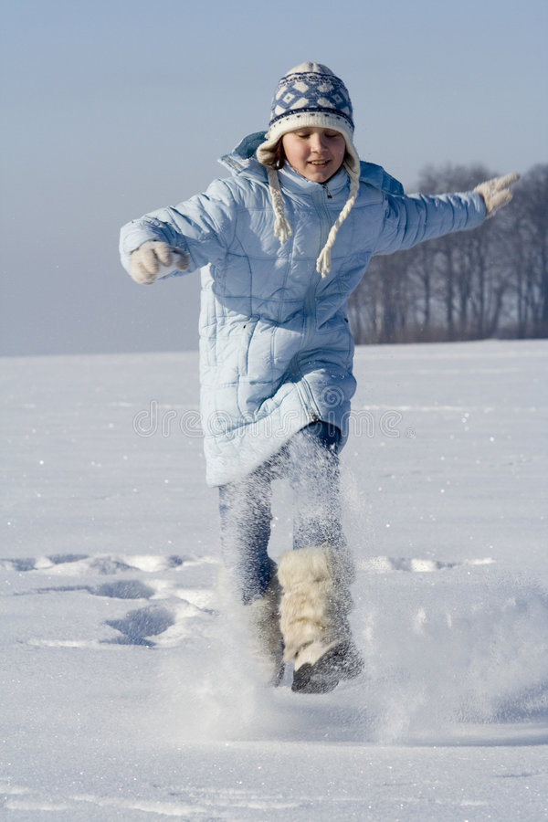 Snow games royalty free stock image