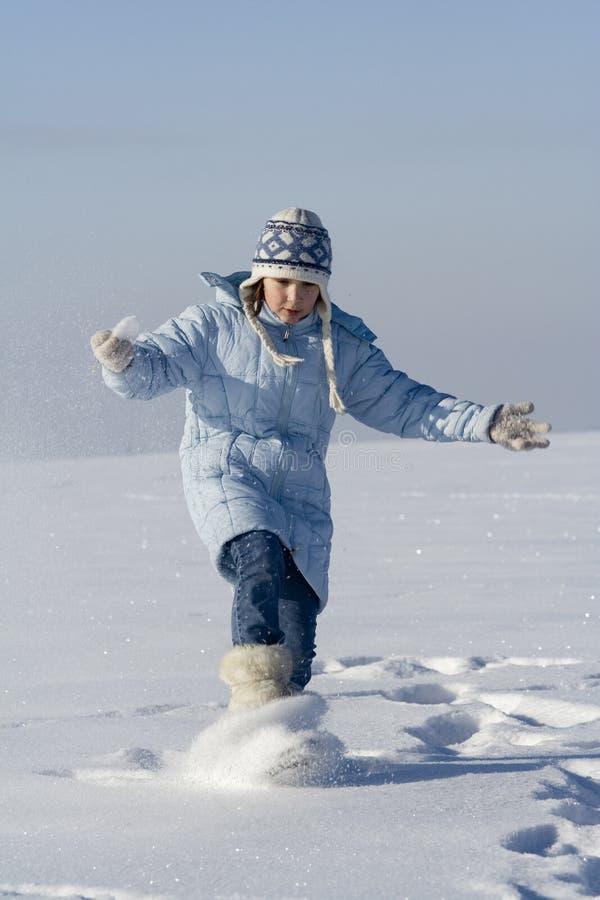 Snow games stock image