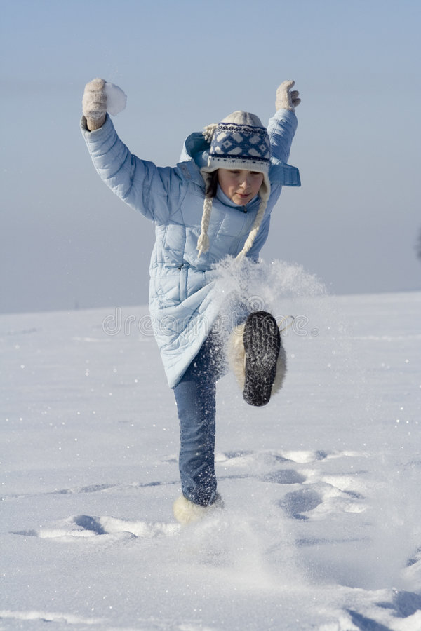 Snow games stock images