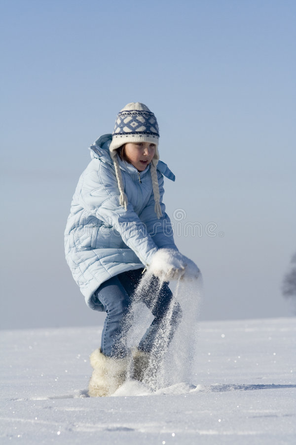 Snow games stock photography